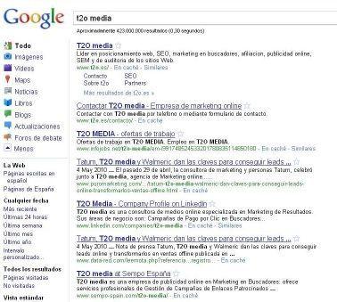nuevo aspecto google t2o media