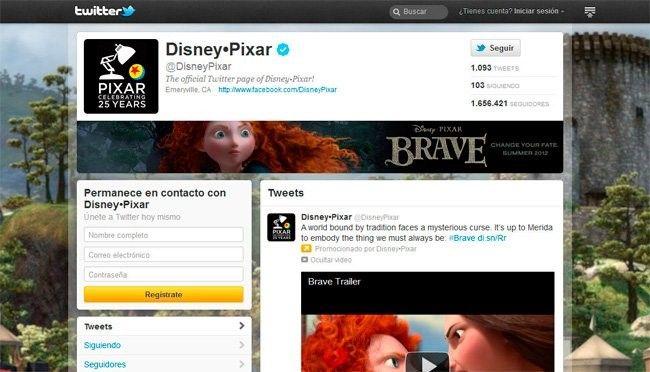 paginas empresa twitter