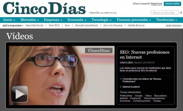 esther-checa-t2o-media-cinco-dias-seo-nuevas-profesiones-internet