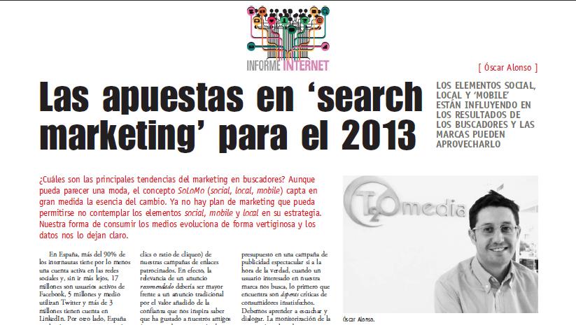 Óscar Alonso en la revista Anuncios
