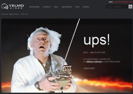 Página error 404 Yelmo Cines