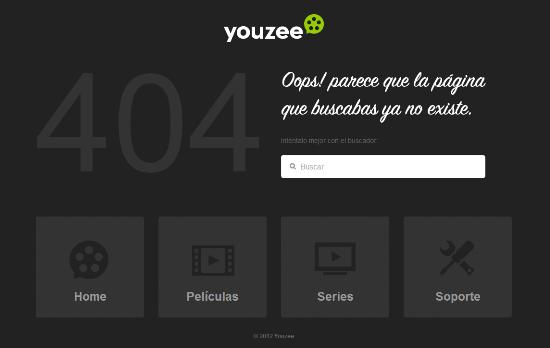 Página error 404 Youzee