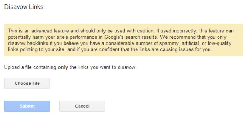 como-subir-archivo-disavow-google