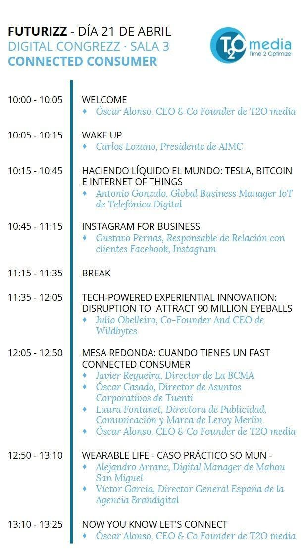 Agenda Futurizz Consumer Connected