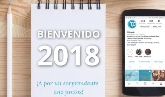 Calendario 2018 de T2O media para imprimir