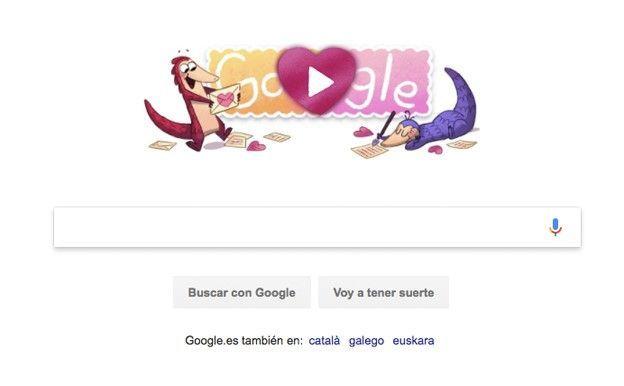 Búsqueda en Google el día de San Valentín