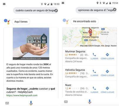 resultados Google Home (Futured Snippets y resultados locales)