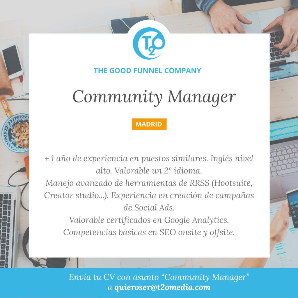 Community Manager offer